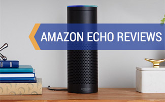 Amazon Echo on table: Amazon Echo Reviews