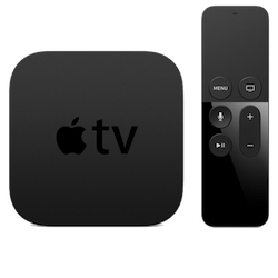 Apple TV streaming media player and remote