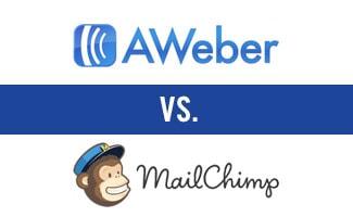AWeber vs Mailchimp logos
