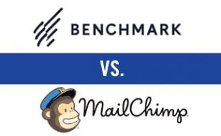Benchmark vs MailChimp logos