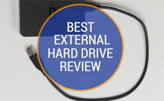 Hard drive on table: Best External Hard Drive Review