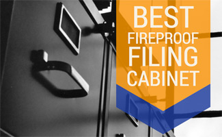File cabinet (caption: Best fireproof filing cabinet)