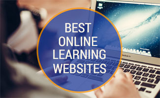 Person on laptop learning: Best Online Learning Site