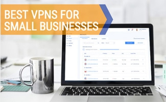 Computer with VPN on screen on desk (Caption:Best VPNs For Small Businesses)