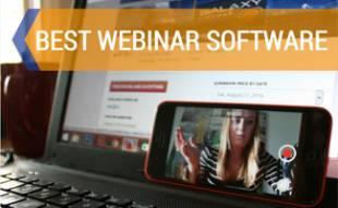 Girl hosting webinar on computer and phone