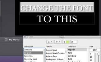 Changing fonts screenshot