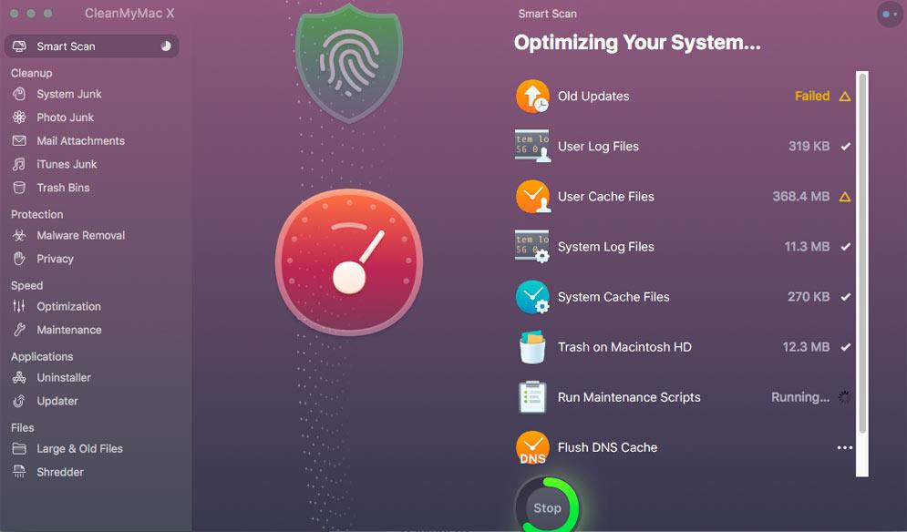CleanMyMac Scanner screenshot