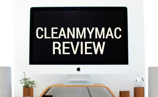 Mac on desk: CleanMyMac Review