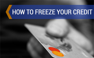 Person holding credit card: How to Freeze Your Credit