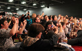 Crowd taking photos at SXSW