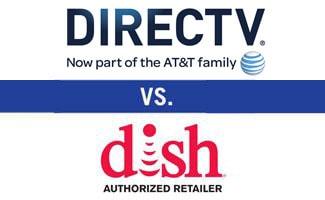 DIRECTV vs DISH logos