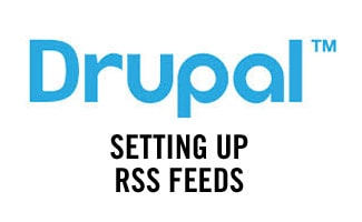Drupal setting up RSS feeds