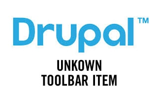 Drupal unkown toolbar item