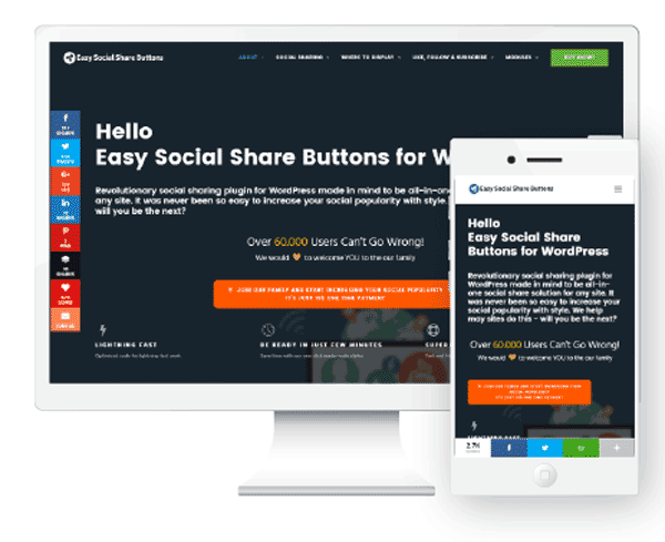 Easy Social Share Buttons Review screenshot