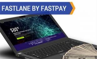 FastPay on laptop with cash