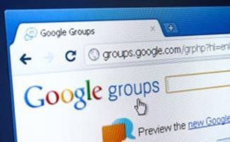 Google groups screen