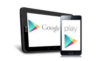 Google play on tablet and phone