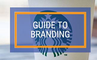 Starbucks cup with logo (caption: Guide to Branding)