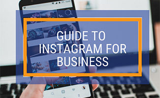 Instagram on iPhone (caption: Guide to Instagram for Business)