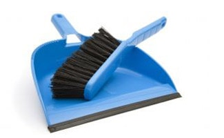 Hand sweeper and dust pan
