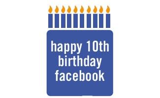 Facebook birthday cake