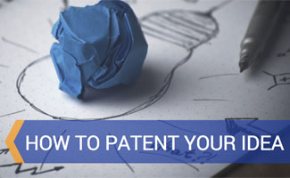 Ball of paper and pen with ideas on paper: 5 Steps to Filing a Patent