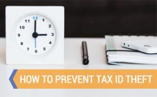 Clock on desk doing taxes