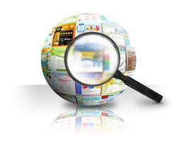 3D SEO Ball with Magnifying Glass