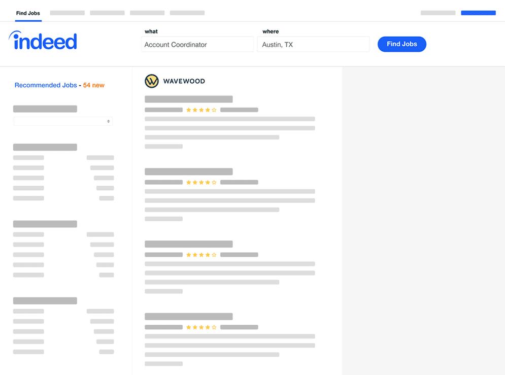 Indeed screenshot of posting job
