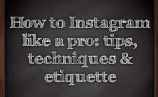 Instagram tips on a chalkboard