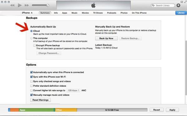 iTunes Auto-Backup Via iCloud