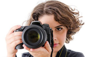 Lady taking picture