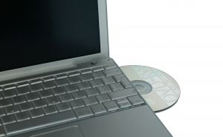 Laptop with disc