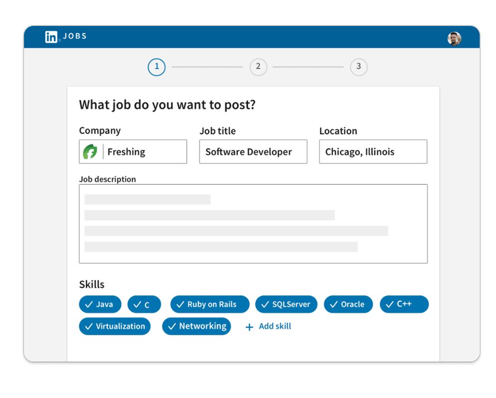 LinkedIn example of job posting
