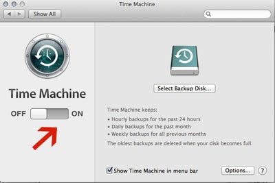 How To Turn Mac Time Machine On
