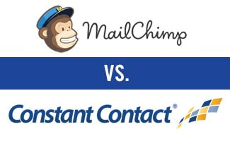 Mailchimp vs Constant Contact logos