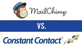 Mailchimp vs Constant Contact logos