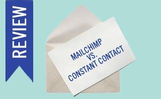 Mailchimp vs Constant Contact on envelope