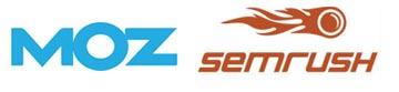 Moz Pro & SEMrush logos