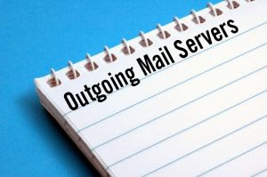 Notebook with outgoing mail servers