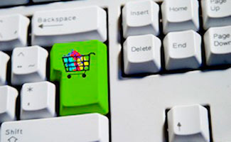 Online shopping cart key