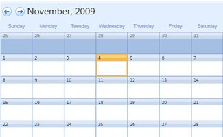 Outlook monthly calendar