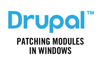 Drupal patching modules in Windows