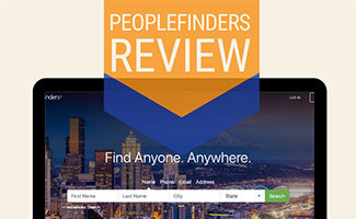 PeopleFinders on computer screen (caption: PeopleFinders Review)