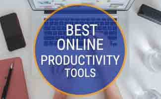 Person using proctivity tools on computer (caption: Best Online Productivity Tools)