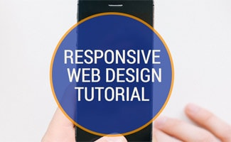Man on iphone: Responsive Web Design Tutorial