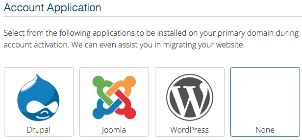 Rochen Hosting Installation - Choose Your CMS