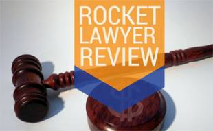 Gavel on table: Rocket Lawyer Review