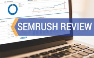 SEMrush on laptop screen