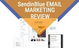 SendinBlue on devices illustration (Caption: SendinBlue Review)